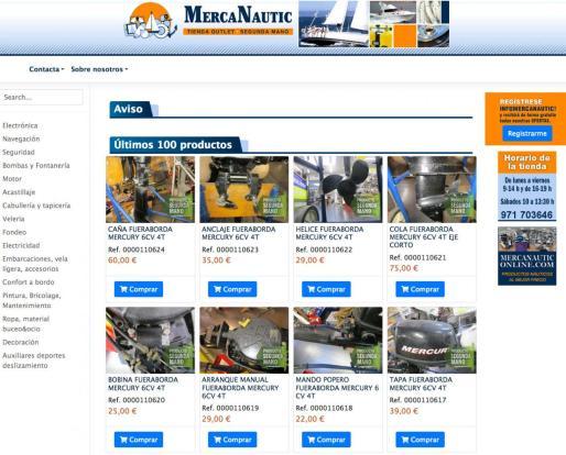 MercaNautic, la mayor tienda de efectos navales de Segunda Mano y Outlet Store de España. www.mercanautic.com