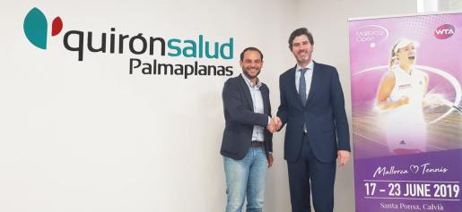 Félix Torralba, director ejecutivo del Mallorca Open , y Víctor Ribot, director territorial de Quirónsalud en Baleares.