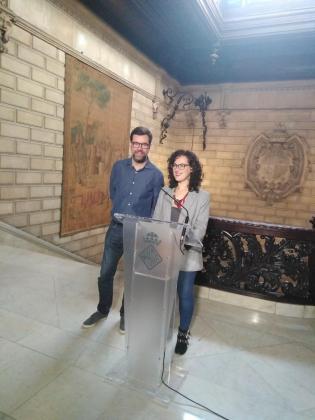 Antoni Noguera y Eva Frade, durante la rueda de prensa.