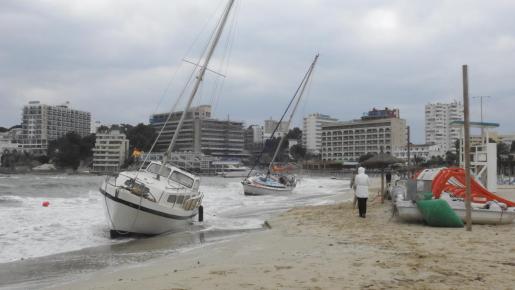 Un nuevo episodio de fuerte viento se vive en Mallorca este fin de semana.