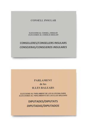 Sobres de las papeletas para votar en las elecciones del próximo 26 de mayo.