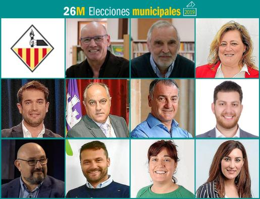 Once son los partidos que se presentan a las elecciones municipales en Llucmajor.