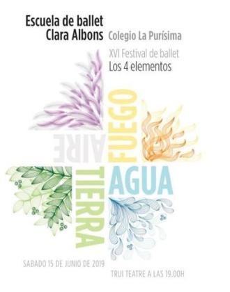 XVI Festival de Ballet 'Los 4 elementos', organizado por la Escuela de Ballet Clara Albons