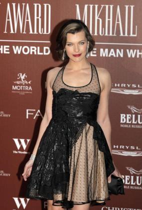 La actriz ucraniana Milla Jovovich en una gala benéfica celebrada el año 2011 en Londres.