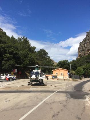 El pequeño ha sido trasladado con un helicóptero al hospital de Son Espases.