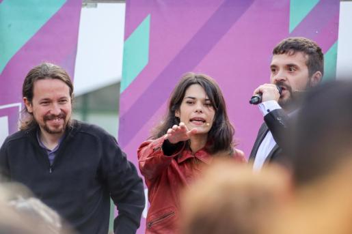 Pablo Iglesias interviene en un acto de Unidas Podemos junto a María Eugenia Rodríguez Palop en Alcorcón, Madrid    18 mayo 2019    18/05/2019 18 mayo 2019