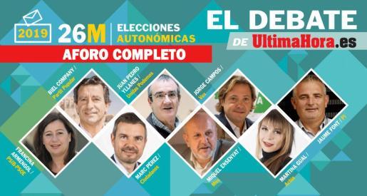 Debate electoral con los candidatos a presidir el Govern balear en Ultima Hora.