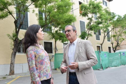 Antònia Martín y Juan Pedro Yllanes, candidatos de Unidas Podemos.