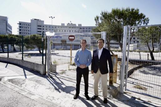 Llorenç Galmés y Biel Company, candidatos del PP al Consell de Mallorca y al Govern.