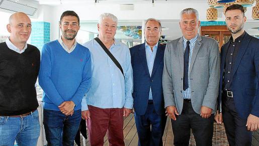 Rubén Suárez, Daniel Arias, Jaques Noris, Antonio Seijas, Antonio Méndez y Miguel Núñez.