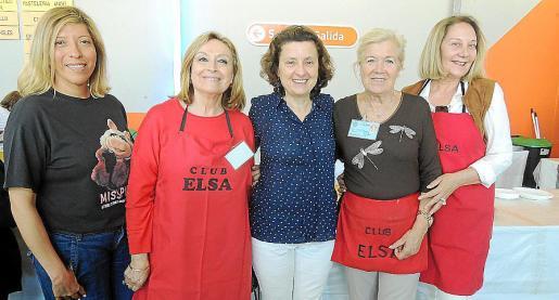 Gema Muñoz, Rafi Córdoba, Fina Santiago, María Miró y Águeda Ropero.