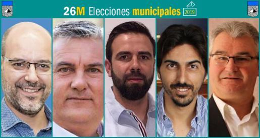 Cinco son los partidos que se presentan a las elecciones municipales en Ses Salines.