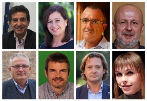 Estos son los candidatos a presidir el Govern de los principales partidos políticos.