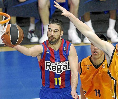 El jugador del Barça Juan Carlos 'La Bomba' Navarro.