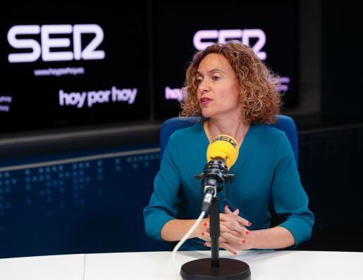 La presidenta del Congreso de los Diputados durante la entrevista con Pepa Bueno en el programa 'Hoy por Hoy' de la Cadena Ser.