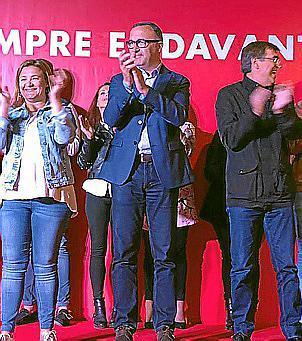 Josep Lluís Urraca, con Francesc Antich y Mercedes Garrido.