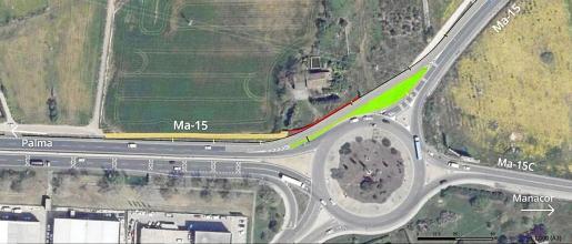 Los coches que provienen de Sant Llorenç tendrán un acceso directo a la carretera de Palma.