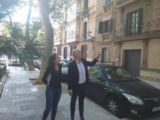 Neus Sánchez y Josep Melià, candidatos del PI al Ajuntament de Palma.