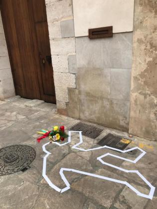 Este es el punto exacto en el que hace 400 años el jutge Berga cayó muerto por un tiro de arcabuz del bandolero Antoni Gibert 'Treufoc', quien posteriormente fue detenido y ejecutado.