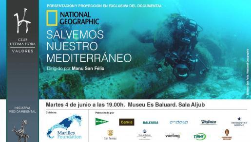 """Presentación y proyección del documental de National Geographic """"Salvemos nuestro Mediterráneo""""."""