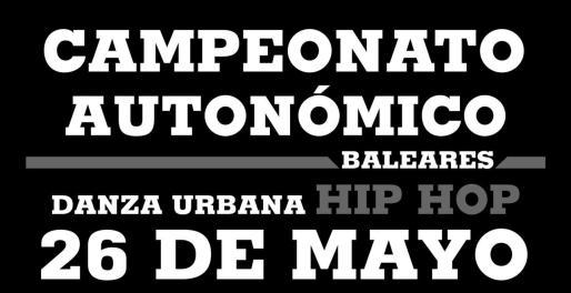Cartel promocional del Campeonato autonómico de Danza Urbana 2019.