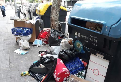 Acumulación de basura en Palma