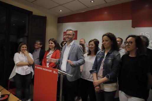 José Hila, candidato socialista, valora con satisfacción los resultados de las elecciones en Palma.