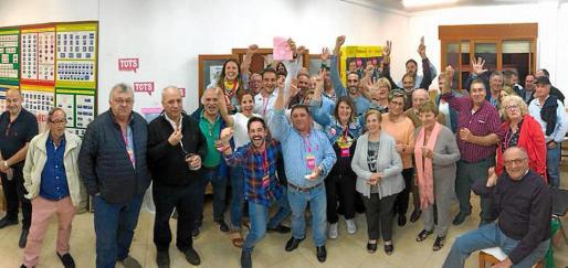 El equipo de Tots per Pollença, liderado por Cifre Ochogavía, celebró ayer por todo lo alto la victoria electoral.
