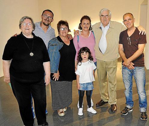 Sheila Amengual, Pep Riera, Antònia Riera, Maria Riera, Isabel Cladera, Rafael Amengual y Colau Salom.