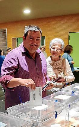 Pep Jaume 'Gall', votando.