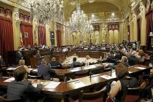 Imagen de la sesión de investidura de Armengol en 2015