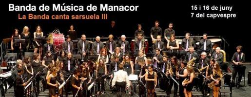 El Teatre de Manacor acoge el concierto de la 'Banda canta zarzuela III'.