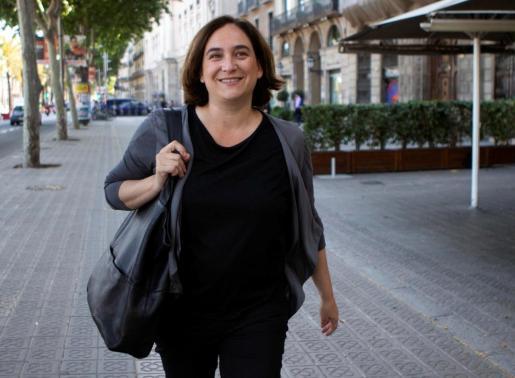 La alcaldesa de Barcelona en funciones y líder de BComú, Ada Colau.