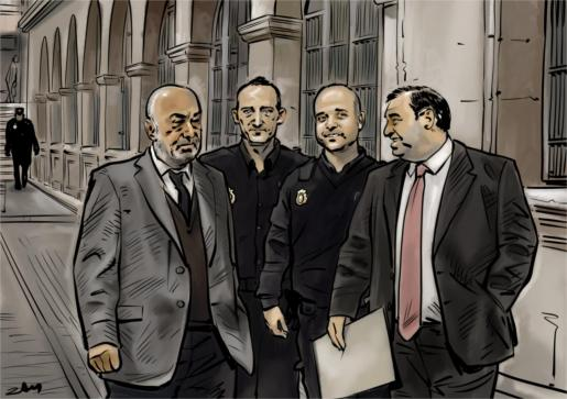 Con el juez Florit (izquierda) recusado, la investigación que llevan a cabo los inspectores Juan Márquez y Juan Palomo permanece en la órbita policial. El fiscal, Juan Carrau, ha sido sustituido por dos compañeros de Anticorrupción de Madrid. El caso de Penalva y Subirán está en espera.