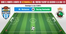 Atlético Baleares-Racing de Santander, en directo