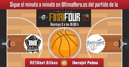 El Iberojet Palma busca en el Bilbao Arena de Miribilla un histórico ascenso a la Liga ACB de baloncesto.