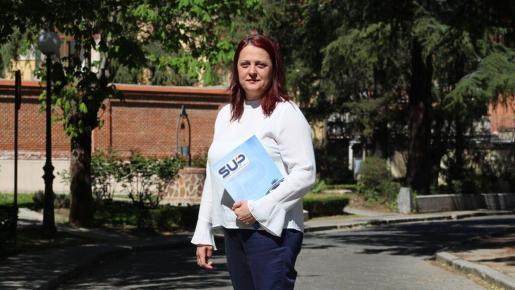 Mónica Gracia, secretaria general de SUP, en su visita en Palma.