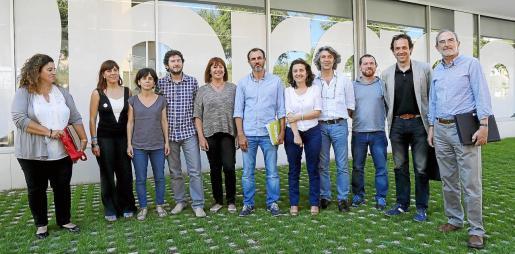 La imagen es de hace cuatro años, durante las negociaciones del pacto. Habrá grandes cambios de cara entre los negociadores ya que no seguirá ninguno de los de Podemos y de Més, solo Fina Santiago.