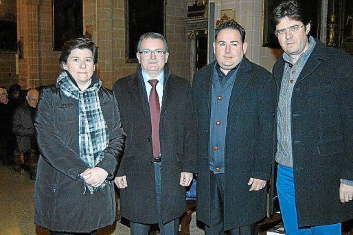 Catalina Cirer, Joan Rotger, Joan Lainez y Jaume Bauzà.