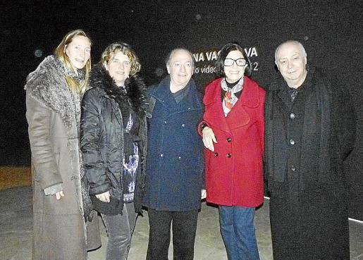 Katrin Kirk, Palmyra, Bernat Albertí, Betty Gold y Joan Guaita, en el espacio expositivo.