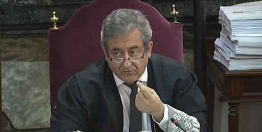 El fiscal Javier Zaragoza interviene en las conclusiones de la Fiscalía en el juicio por el procés en el Tribunal Supremo.