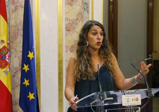 Noelia Vera, coportavoz de Podemos.