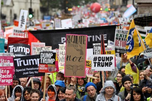 Imágenes de las protestas contra Donald Trump.