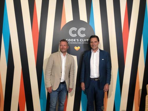 El CEO de Thomas Cook, Peter Frankhausen, y el director de la división Hotel & Resorts de la compañía, Enric Noguer.