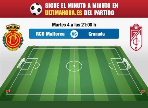 El Real Mallorca recibe al Granada en Son Moix en un partido clave para el desenlace de la trama del ascenso.