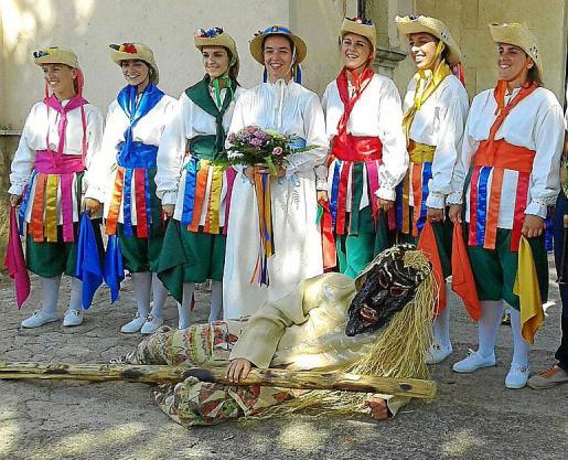 Las mujeres Cossiers de Son Sardina, en 2016.