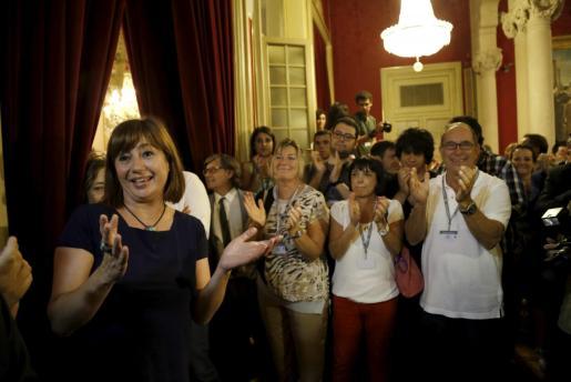 Francina Armengol fue investida presidenta del Govern con el apoyo de Més y Podemos hace cuatro años.