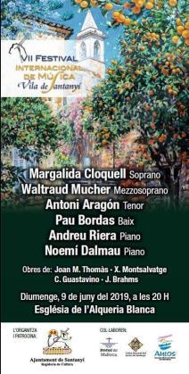 Cartel del VII Festival Internacional de Música VIla de Santanyí.