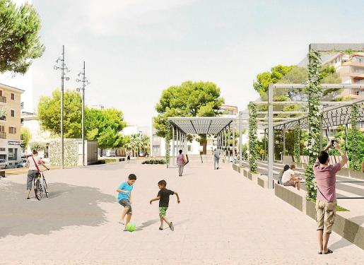Además de la reforma que transformará la plaza Mallorca, la constructora Obras y Pavimentación Man se encargará de dotar de servicios y pavimentar las calles Barco, Artà y la avenida de Alcúdia,