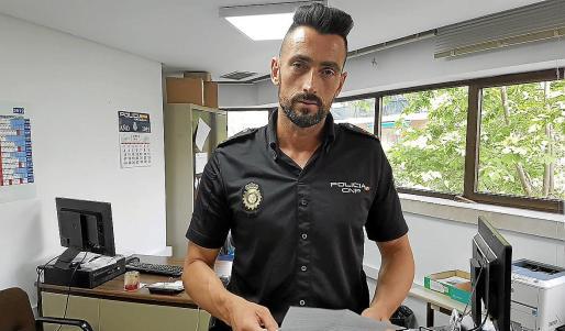 El inspector Eduardo Pérez, este miércoles en la Jefatura Superior de Policía de Baleares.